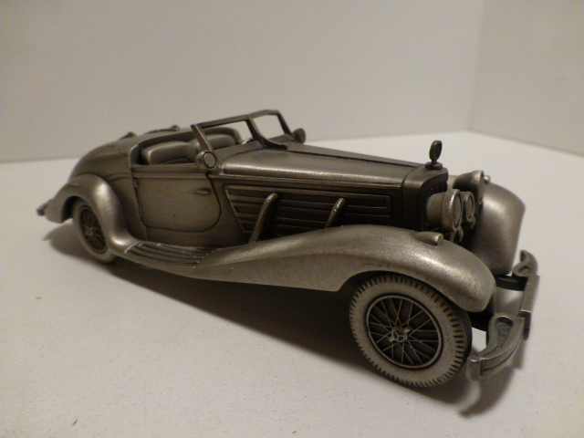 *Danbury Mint 1935 Mercedes Benz 500 K pewter