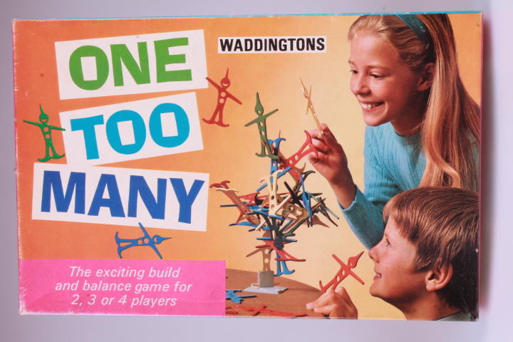 "*Vintage Waddington's One Too Many. The Exiting Build and Balance Game for 2,3 or 4 Players.. Perfect for your ""Nostalgic Room"""