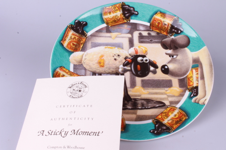 *Wallace & Gromit Plate - A sticky moment