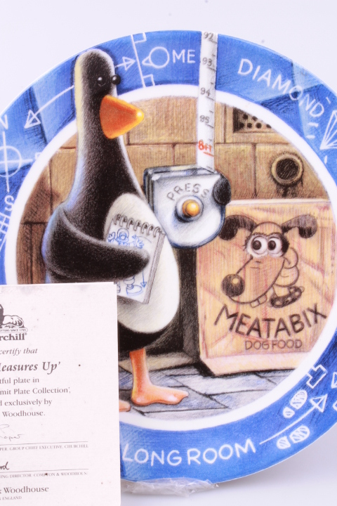 *Wallace & Gromit Plate Feathers Measures Up