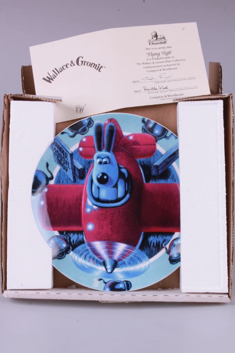 *Wallace & Gromit Plate - Flying High