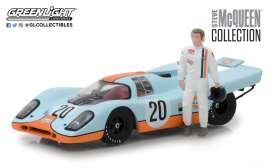 1/43 Greenlight 86435 Porsche 917K Gulf McQueen & Figure