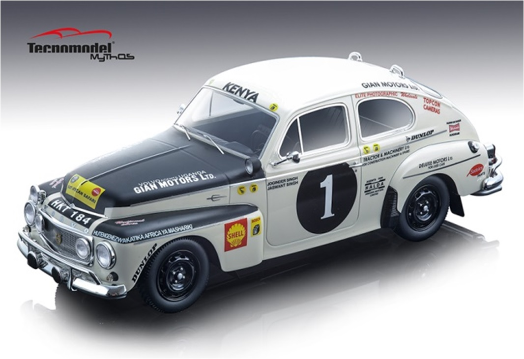 1/18 Tecnomodel TM18106A 1965 Volvo PV 544 East African Rally Winer limited 110 pcs.